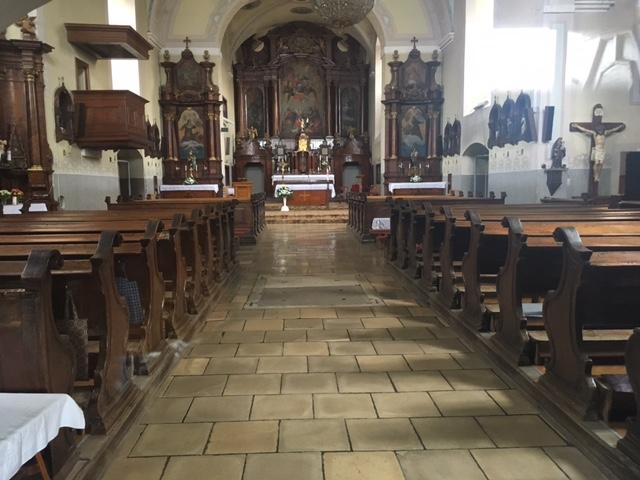 Výlet do Pezinku - Kostol interiér