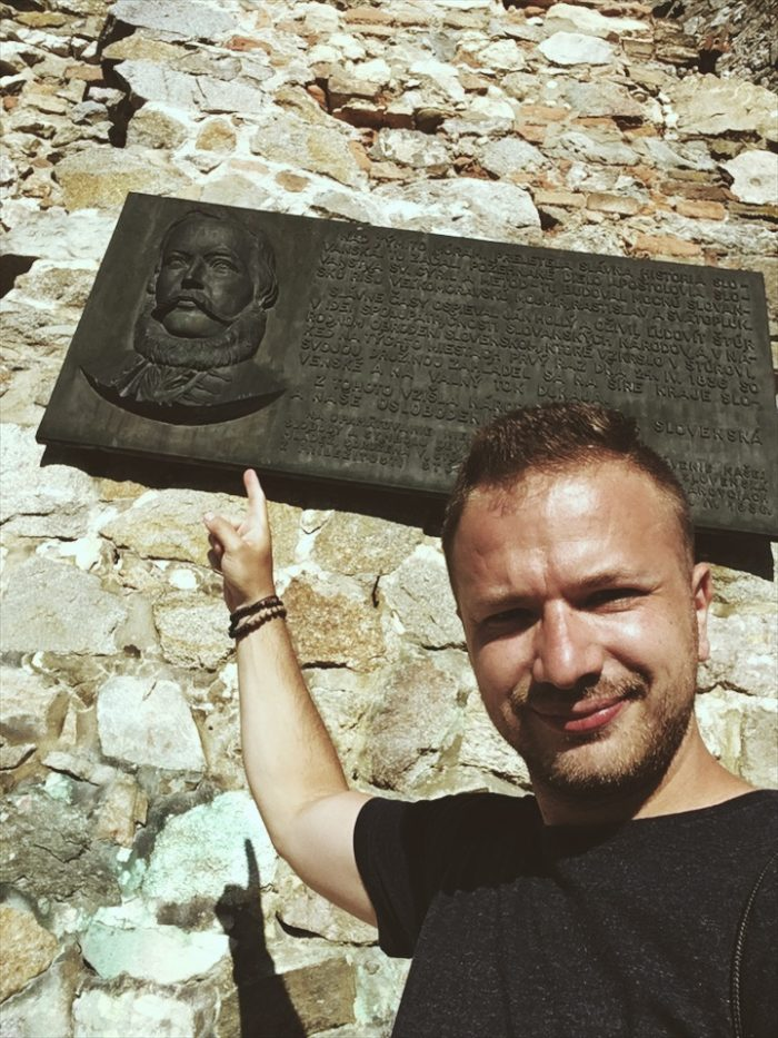 Výlet na hrad Devín - Pamätná tabuľa