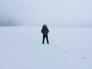 Pózy v snehu